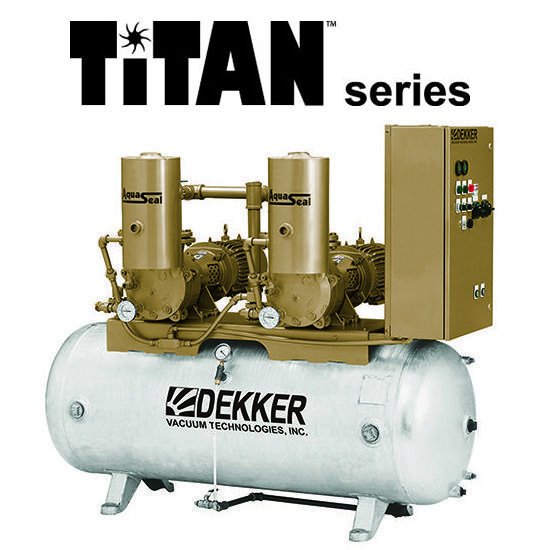 DEKKER - Water Box Priming Vacuum System TITAN Series